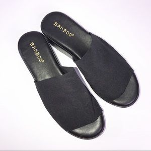Bamboo Black Slinky Slides Size 6